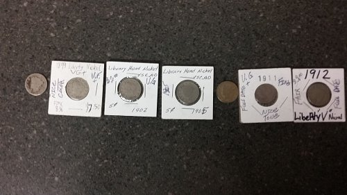 7 liberty nickels nice lot
