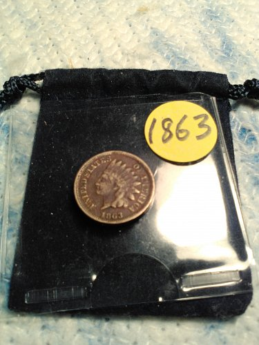 1863 CN INDIAN HEAD CENT