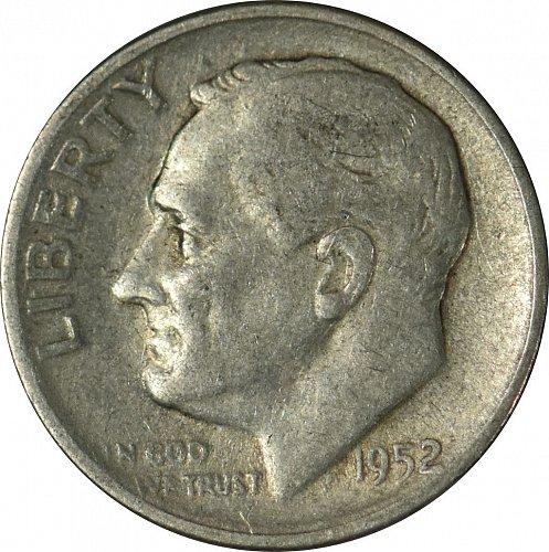 1952 S Roosevelt Dime,  (Item 92)