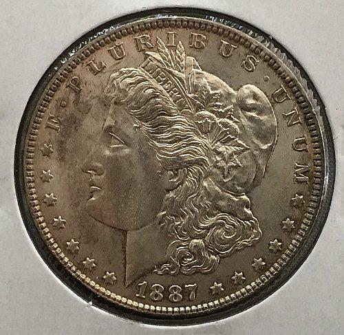 1887 P Morgan Dollar - MS-63