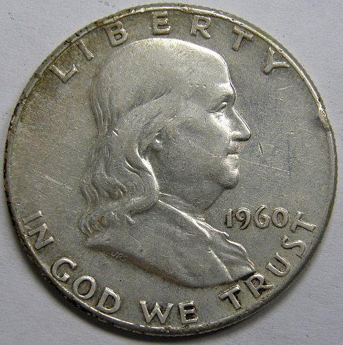 1960 P Franklin Half Dollar #5LE