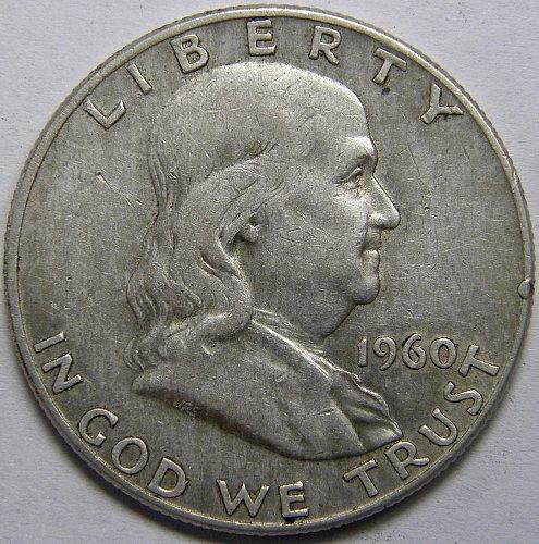 1960 D Franklin Half Dollar #5LE