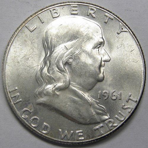 1961 P Franklin Half Dollar #5LE