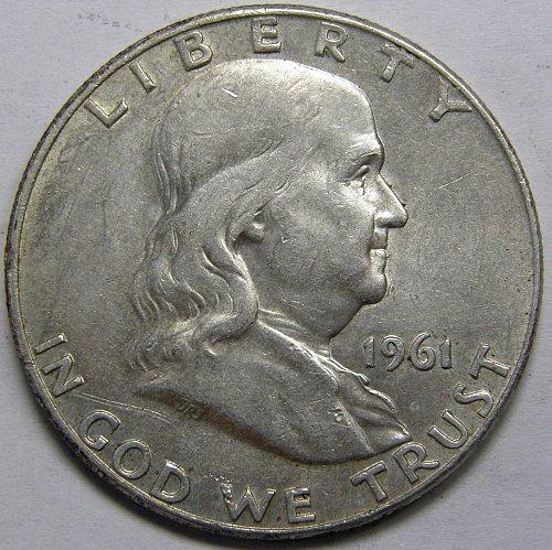 1961 D Franklin Half Dollar #5LE