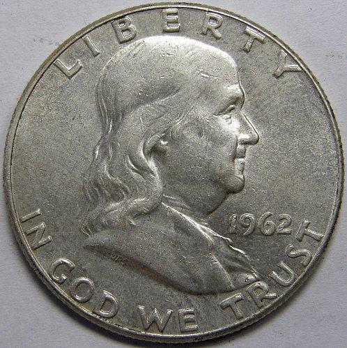 1962 P Franklin Half Dollar #5LE