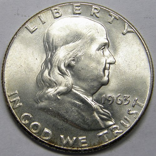 1963 P Franklin Half Dollar #5LE