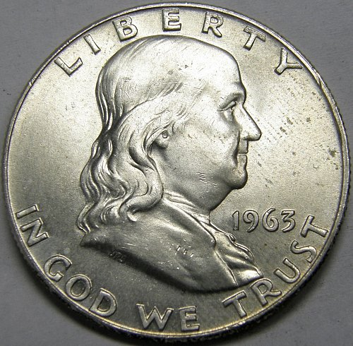 1963 D Franklin Half Dollars #5LE