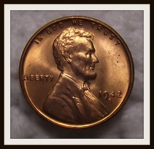 1942 - S Lincoln Wheat Cent (BU)