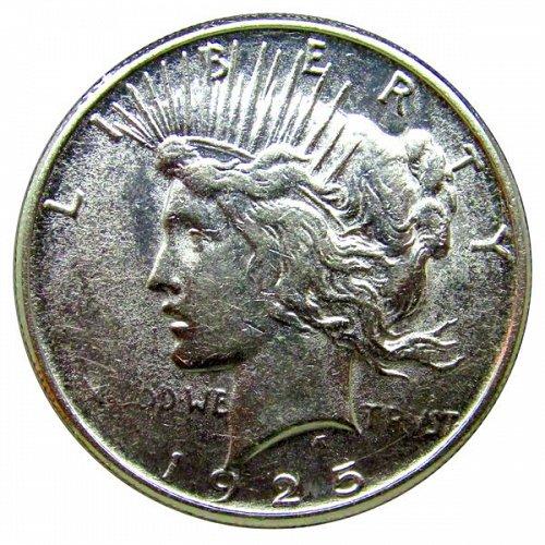 1925 S Peace Silver Dollar - AU