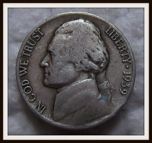 1939 - D Jefferson Nickel
