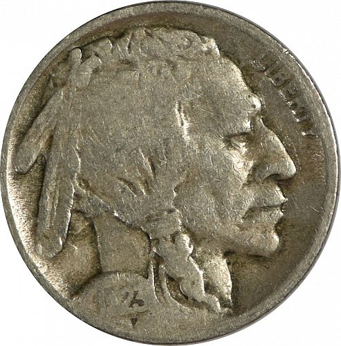 1923 S Buffalo Nickel,  Visible Date, (Item 156)