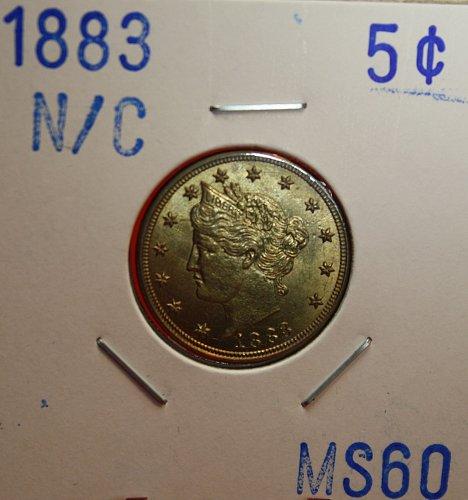 "1883 ""NO CENT"" Liberty Nickel"