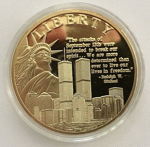 Liberty Remembering 9/11 Commemorative Coin - Proof - COA