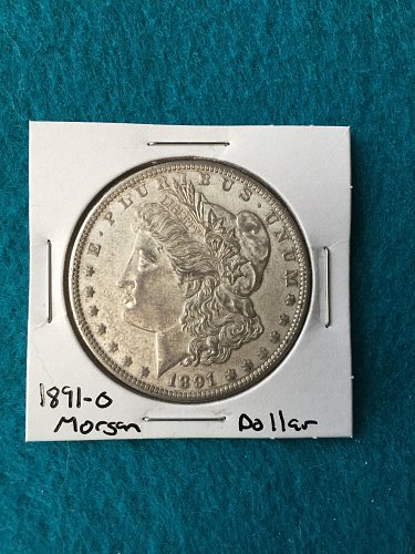 1891-O Morgan Silver Dollar 90% Silver U.S. Coin - Great Detail - Free Shipping!