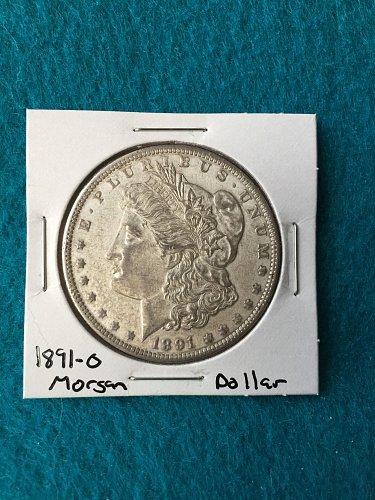 1891-O Morgan Silver Dollar 90% Silver U.S. Coin - Great Detail - Free Shipping!
