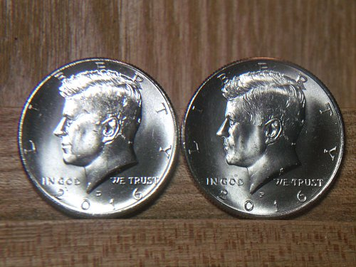 2016 Kennedy Half Dollar P and D Mint Marks