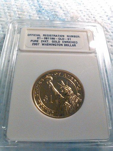 2007 GOLD ENRICHED WASHINGTON DOLLAR