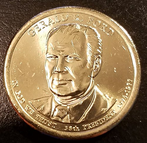 2016-D Gerald R Ford Presidential Dollar - From US Mint Roll (6419)