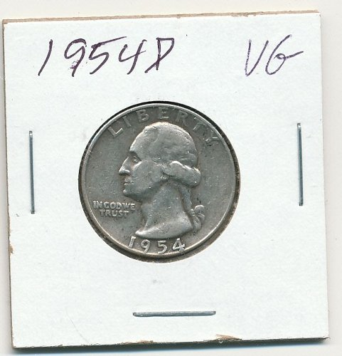 1954D a very good circulated coin