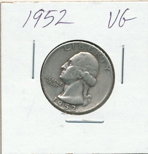 1952 average circulated coin