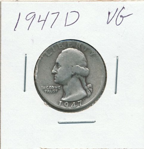 1947D average circulated coin