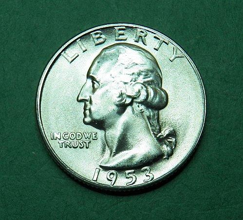 1953 S Washington Quarter Brilliant Uncirculated Coin   g36