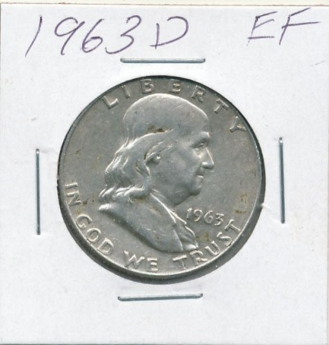 very nice 1963D Franklin Half