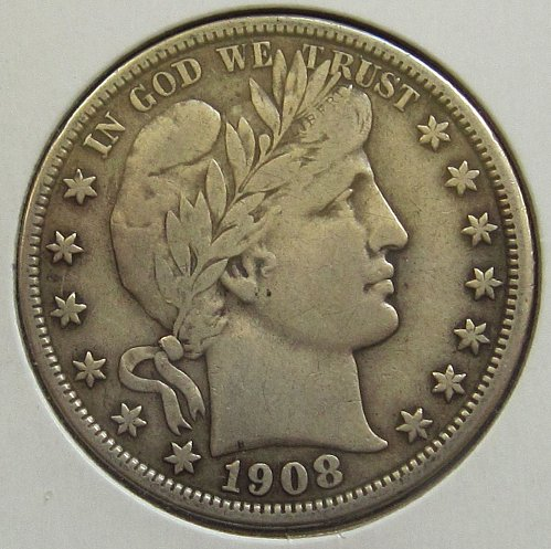 1908 P Barber Half Dollar - Very Fine