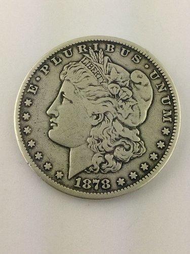 1878 CC Morgan Silver Dollar, High Right CC