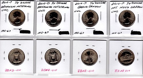 2010 P&D  AMERICA THE BEAUTIFUL 4 COIN SET