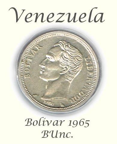 Venezuela 1965 Bolivar, BUnc