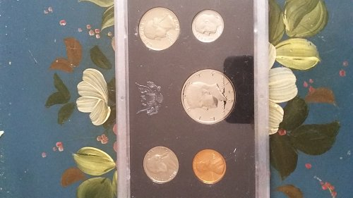 1971 s proof set, s mint marks on all coins.