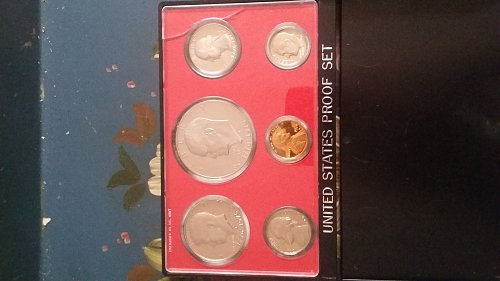 1976 United States proof 6 coin set. s marks on all coins.