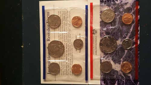 1997 United States uncirculated mint proof coin set