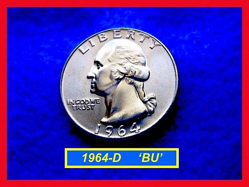 1964-D Washington SILVER Quarter   (#2355)