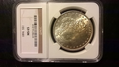 1896 Morgan Dollar NGC MS65