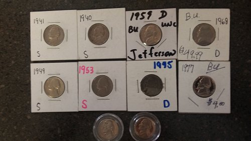 Beautiful collection of Jefferson nickels