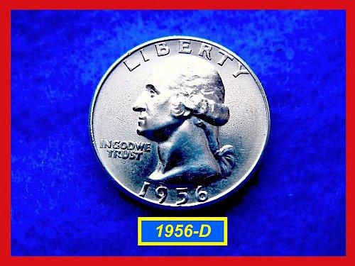 """1956-D   """"AU"""" Washington Quarter ••• (#2364)"""