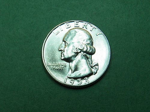 1953 P Washington Quarter Brilliant Uncirculated Coin   h03