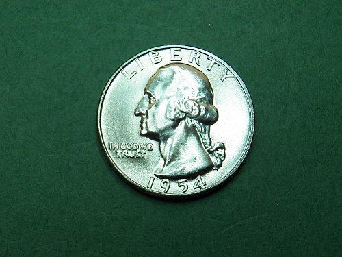 1954 P Washington Quarter Gem Uncirculated Coin   h05