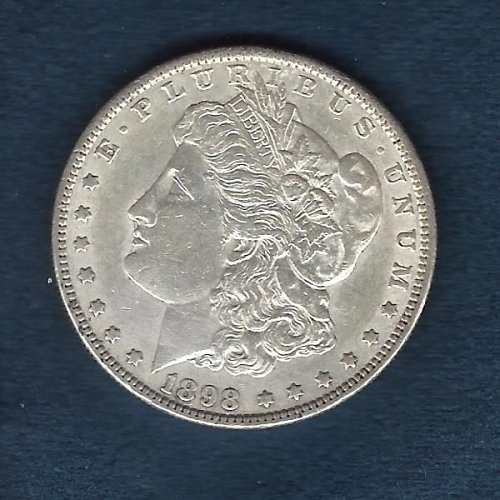 1898 Silver Morgan Dollar Nice Almost Uncirculated Coin.