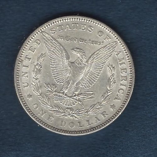 1898 Silver Morgan Dollar Nice Almost Uncirculated Coin.