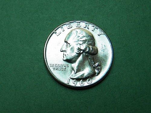 1960 P Washington Quarter Brilliant Uncirculated Coin   h11