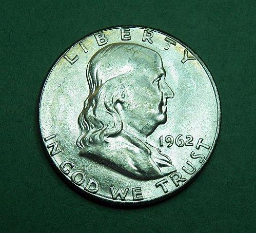 1962 P Franklin Half Dollar Brilliant Uncirculated Coin   g22