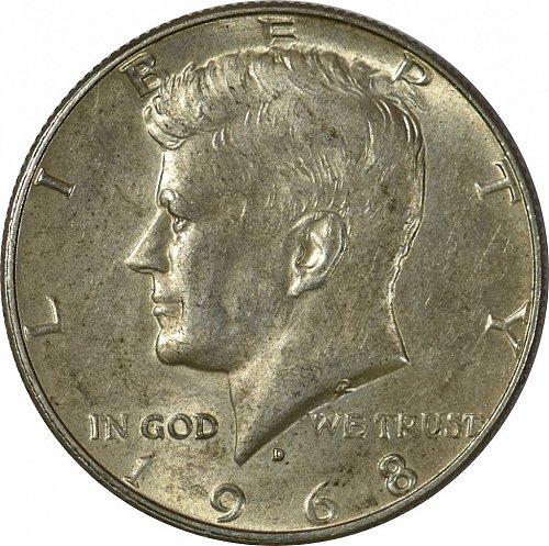 1968 D Kennedy Half Dollar, (Item 159)