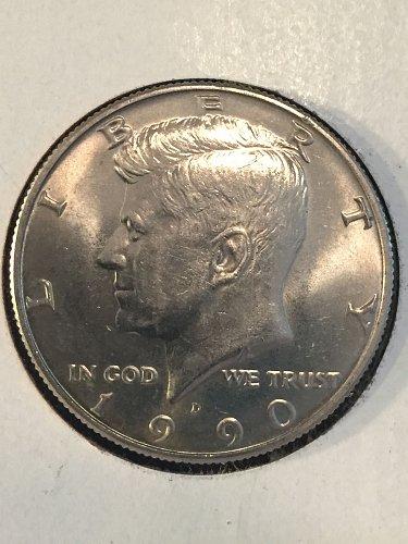 1990-D Kennedy Half Dollar