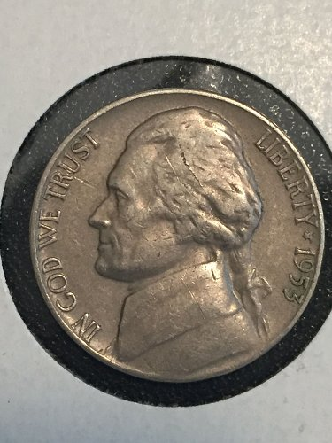 1953 P Jefferson Nickel