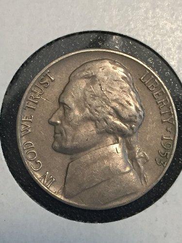 1953 P Jefferson Nickel