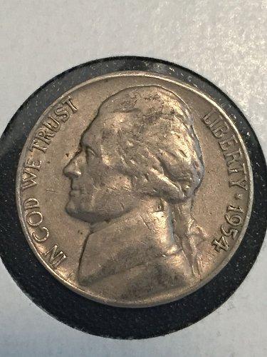 1954 S Jefferson Nickel
