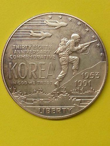 Korea Commemorative Silver Dollar - Proof - 1991
